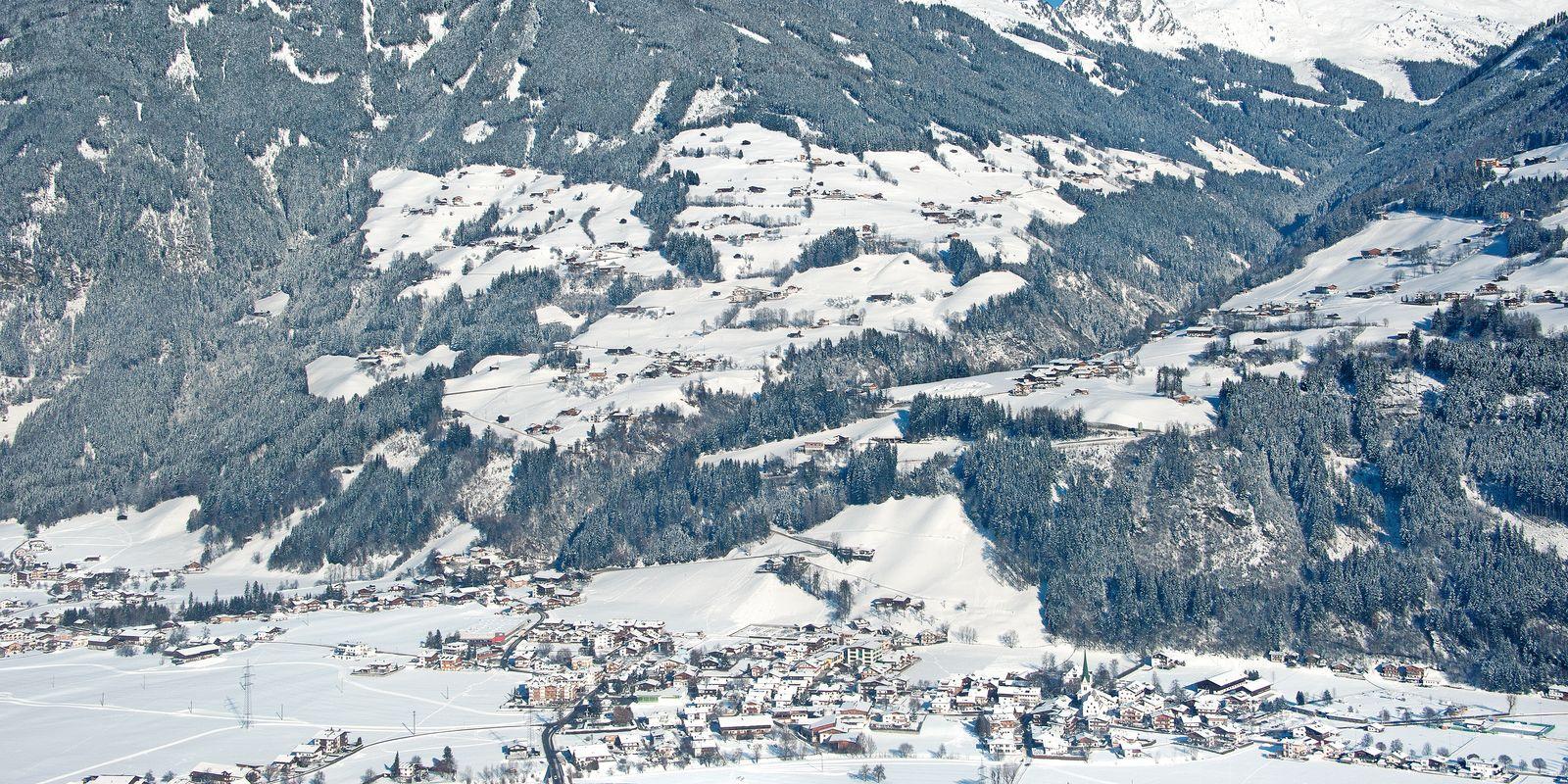 Stumm im Zillertal im Winter