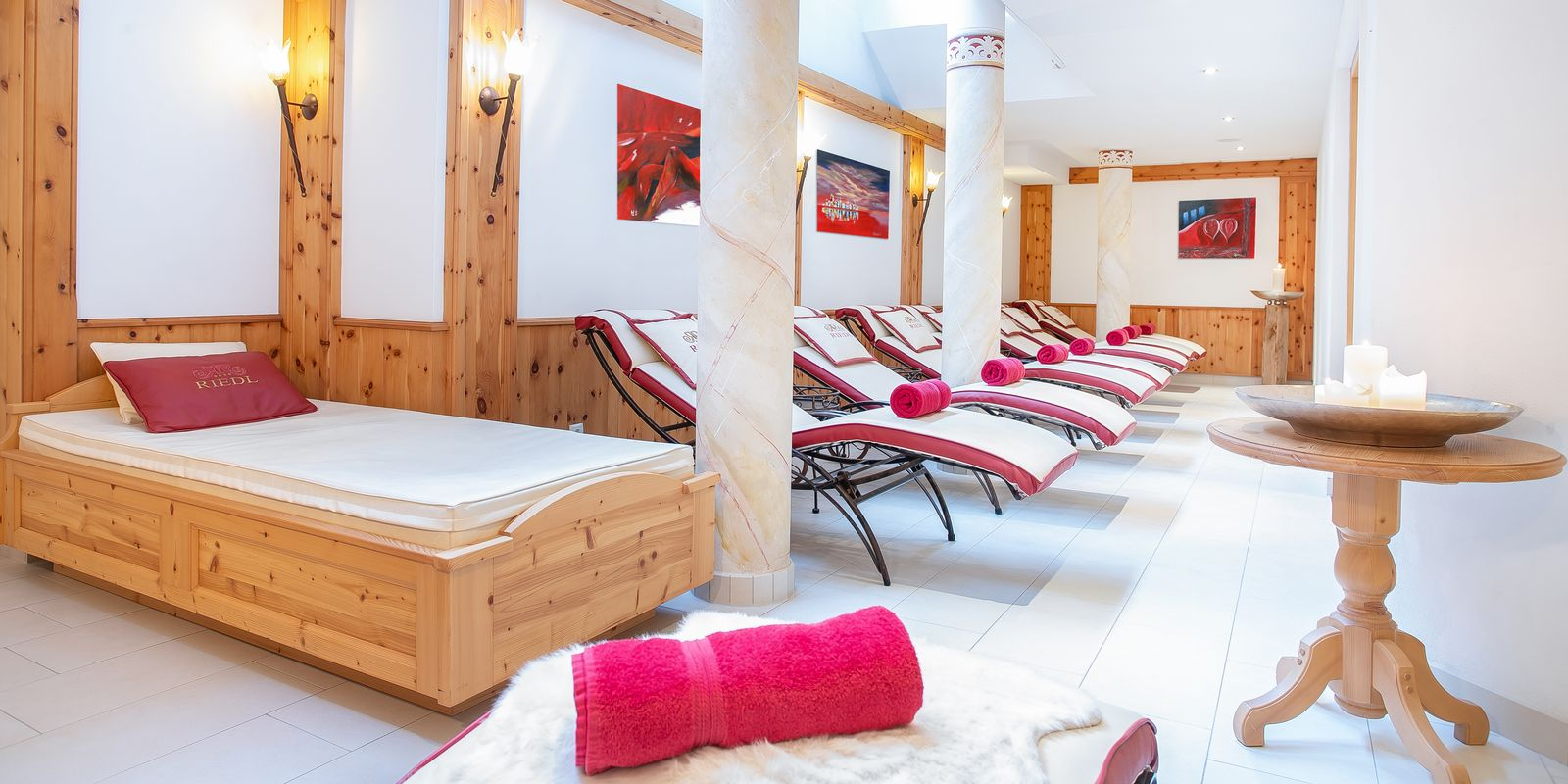 Relaxation room in the Riedl Alpine SPA