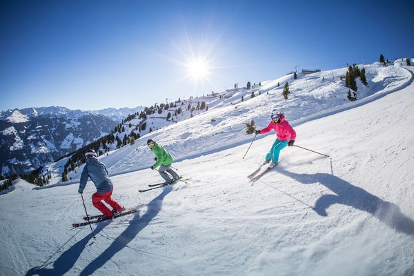 Skiing in Kaltenbach in the Zillertal